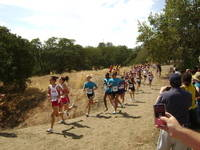 Deer Valley Varsity girls push for the lead at the Ed Sias Invitational.